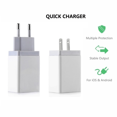 Fast Phone Charger USB US Plug Power Adapter Travel Charger Power Adaptor Socket Home Converter Wall Charger For iPhone XR XS Max 8 7 Samsung S8 S9
