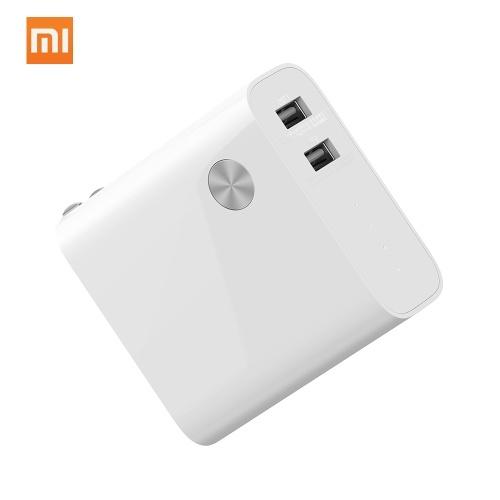 Xiaomi Power Bank Зарядное устройство 2 в 1 Зарядное устройство для путешествий Адаптер для зарядки Быстрая зарядка Разъем для мобильного телефона Быстрое зарядное устройство 5000 мАч с 2 USB для iPhone Samsung Huawei