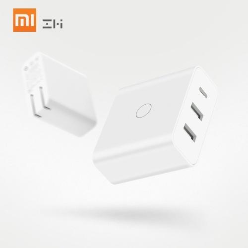 XIAOMI ZMI HA832 65W USBウォールフォン充電器iPhone用Huawei MacBook Fast Travel電源アダプター付き3ポート110-240V USプラグ