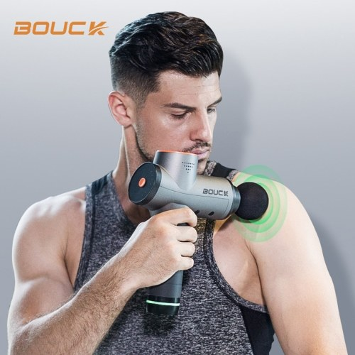 BOUCK Muscle Massage Gun Professional Handheld Vibration Massager Device Rechargeable Cordless Electric Percussion Full Body Muscle Stimulate Massage Equipment Deep Tissue Muscle Massager for Athletes Crossfit Office Workers
