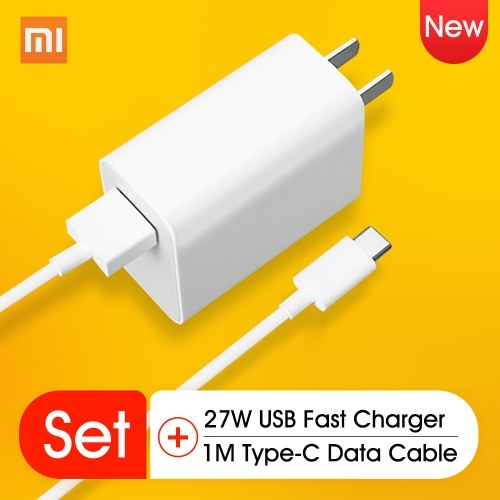 Xiaomi 27W USB Charger Phone US Power Adapter Home Travel Adaptor Charging Converter Wall Charger Jack Connector AC100-240V