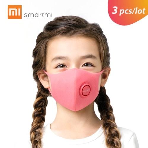 3 шт. / Лот Xiaomi Smartmi Анти-Загрязнение Маска Для Лица Для Детей Воздушный Спорт Блок Респираторы PM2.5 Haze Anti-Haze Регулируемый Подвесной Ушной 3D Дизайн Удобно с Вентиляционным Клапаном