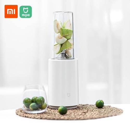 Xiaomi Mijia Liquidificador Portátil Copo Liquidificador Liquidificador Doméstico Misturador de Frutas com 6 Lâminas Cabeça de Mistura Espremedor Elétrico Multiuso Mini Copo de Suco Liquidificador Misturador Cortado 500 ml Máquina de Cozinha 220V