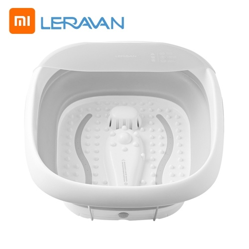 Xiaomi Youpin LERAVAN Foot Spa Pedicure Spa Bath Massager with Heat with Soothing Vibration Massage Bubbles Constant Temperature Control with Mini Acupressure Massage Points 220V