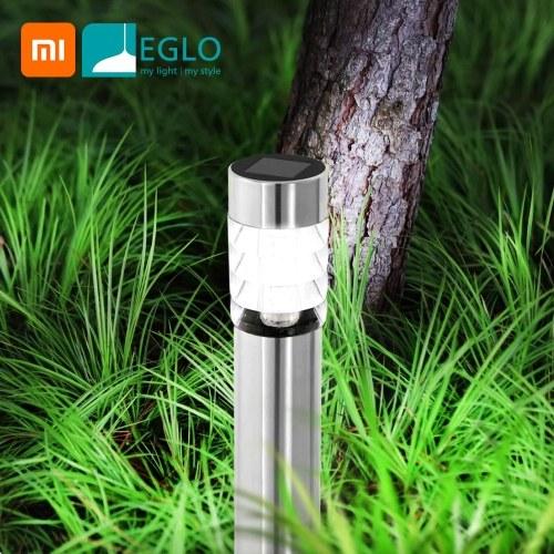 Xiaomi Youpin EGLO Smart Lichtsensor 304 Edelstahl Solar Gartenleuchte Solarbetriebene Außenlampe IP44 Wasserdichte LED-Lichtquelle Schnellinstallations-Landschaftsleuchte für den Weg Patio Yard Lawn Street Lighting