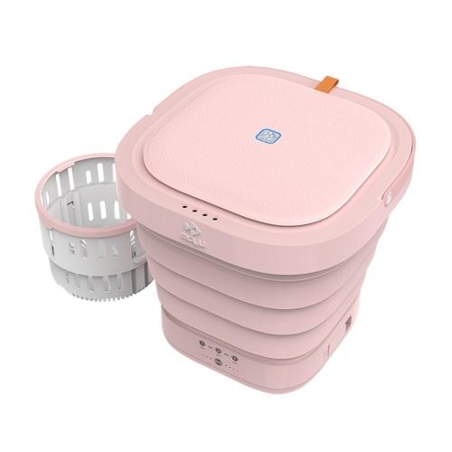 Moyu Mini Lavadora Portátil con Desinfectante de Luz UV Turbo Lavadora Plegable Ligera Tina de Lavandería de Viaje para Camping Dormitorios Apartamentos Universidad Viaje de Negocios Ropa XPB08-F2S