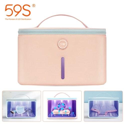 59S UV Light Sterilizing Bag P26 Sanitizing UV Light Cleaner Portable Multifunctional UVC LED Sterilizer Bag Bottle Phone Sterilizer