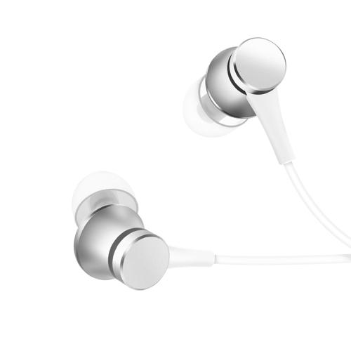 Fones de ouvido intra-auriculares originais Xiaomi Versão fresca 3.5 milímetros Sistema de amortecimento de equilíbrio do sistema Fones de ouvido embutidos Microfone Atendimento telefônico Fone de ouvido para smartphone