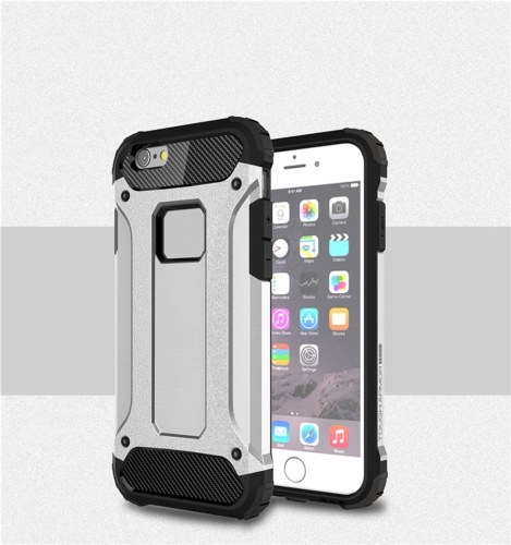 Para iPhone 6 Funda / iPhone 6S Funda Slim Fit Dual Layer Cubierta trasera dura Funda protectora Shock-Absorption & Skidproof Anti-Scratch para Apple iPhone 6 / 6S 4.7 pulgadas