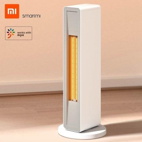 Xiaomi Smartmi Smart Electric Heater Domestico Inverno PTC Ceramica Riscaldamento Scaldino Ventilatore ad aria calda APP Controllo dei tempi con telecomando a basso rumore per ufficio Camera da letto casa 2000 W 220 V