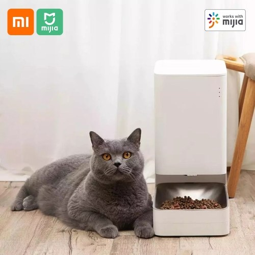 Xiaomi Mijia Smart Pet Feeder Cat Dog Remote Automatic Feeding Bowel Pet Pots Pet Food Dispenser Pet Feeding Machine Regular Quantitative With Mijia App