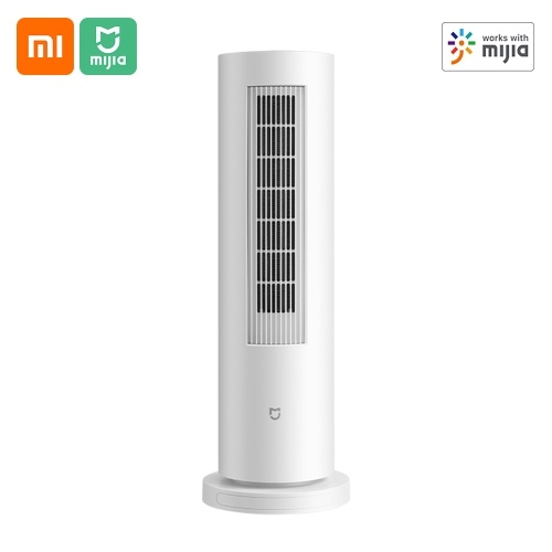 Xiaomi Mijia Space Heater LSNFJ01LX 2100W Vertical PTC Calentador eléctrico de torre Calentador de torre portátil con 5 modos de bajo ruido 8H Temporizador Termostato programable Control remoto por Mijia APP 220V