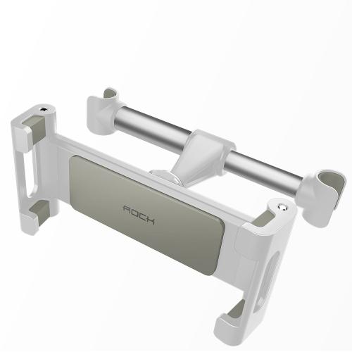 ROCK Car Headrest Mount (Universal) Alloy Alloy Seat Suporte de telefone ajustável Suporte de telefone de rotação de 360 graus para tablets iOS / Android Mobile Phone