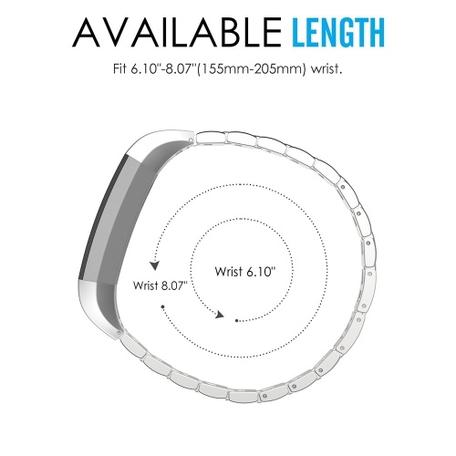 High Quality Watch Band Zinc Alloy Women Fashion Simple Style Wrist Strap For Fitbit Alta Smart Watch