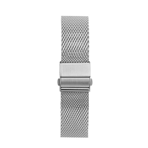 20mm Stainless Steel Watch Bands Quick Release Mesh Strap Replacement Metal Wristband with Folding Buckle Adjustable Bracelet Watchband Compatible with 20mm Smart/Traditional Watch