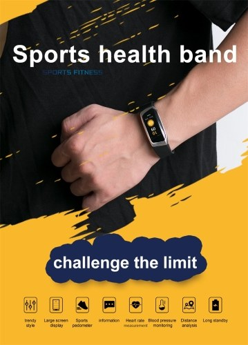 E18 Smart Bracelet Heart Rate Monitor Fitness Tracker Monitor Life Waterproof Sports Wristwatch for Android and IOS