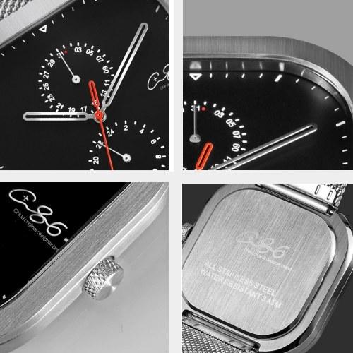 Xiaomi Youpin C + 86 Смотреть все Часы из нержавеющей стали 3ATM Водонепроницаемые с 24-часовой циферблатом Каландр Циферблат Бизнес кварцевые наручные часы фото