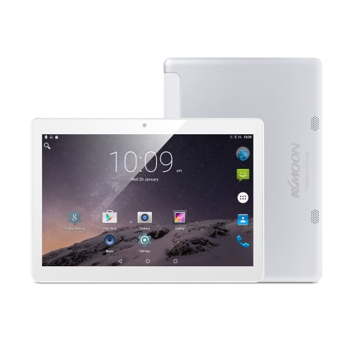 KKmoon QT-10 inteligente Tablet Telefone 3G WCDMA 2G GSM MTK6580 Quad Core max 1.5GHz Android 6.0 10.1 polegadas IPS 1280 * 800 pixels da tela de toque 1GB de RAM + 16GB ROM 0.3MP + 2MP dupla Câmeras WiFi BT 4.0 4500mAh OTG GPS FM