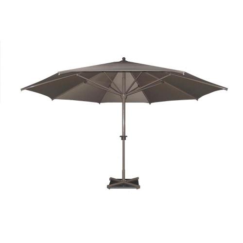 Parasol Roman rond dia. 5.0m alu Taupe