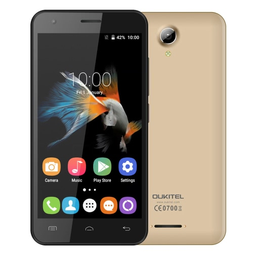 OUKITEL C2 3G WCDMA Smartphone Android 5.1 Lollipop OS MTK6580M Quad Core 4.5