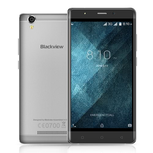 Blackview A8 Smartphone 3G WCDMA Android 5.1 OS Quad Core MTK6580A 5.0