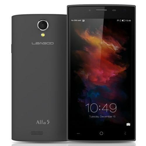 LEAGOO Alfa 5 Smartphone 3G WCDMA SC7731 Quad Core 2.5D 5.0