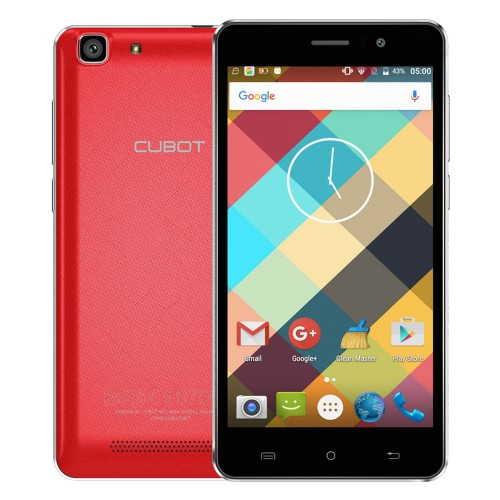Cubot Rainbow Smartphone 3G WCDMA Android 6.0 OS Quad Core MTK6580 5.0