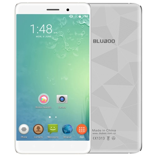 Original 5.5inch BLUBOO Maya HD JDI TFT 1280 * 720pix 3G WCDMA Smartphone 64bit MTK6580A Quad-Core 1.3GHz 2GB + 16GB Android 6.0 telemóvel 8.0MP + Dual Camera 13.0MP 3000mAh Battery