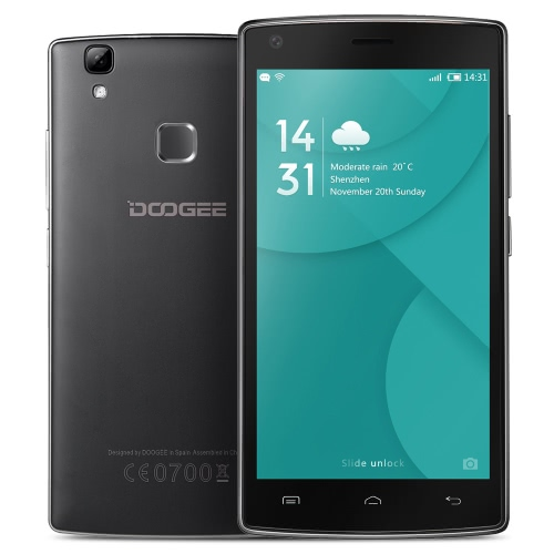 Doogee X5 MAX Pro Smartphone 4G FDD-LTE 3G WCDMA MTK6737 64-bit 5.0 polegadas IPS HD 1280 * 720 pixels da tela Android 6.0 2G + 16G 8MP + 8MP Câmera Dupla Fingerprint desbloqueio inteligente OTG Gesture