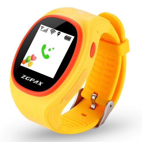 ZGPAX S866 Kids Tracking Watch Phone 2G Smart Watch MTK6260 1.2inch Screen for Android 2.0 IOS 4.0 Above Smartphone Kids Pedometer Wifi Function Weather   Forecast IPS True Color Screen Wifi Tracking Fall Down Alarm Real-time Tracking Online Check History Records Two Way Communication SOS Emergency Call Lowest Radiation