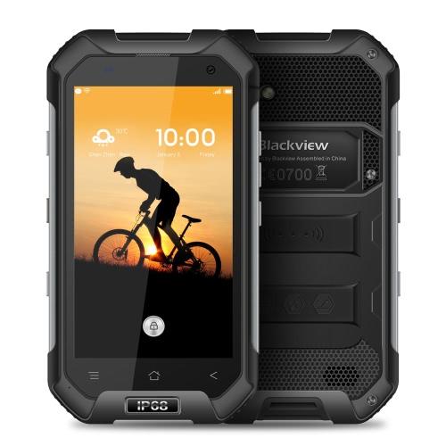 Original Blackview BV6000s 4G FDD-LTE Tri-prova Smartphone 4.7inch HD 720 * 1280pixel Mostrar 64 bits MTK6737T Quad-core1.3GHZ 2GB + 16GB IP68 8.0MP Câmera impermeável Android 6.0 OS 4200mAh Celular Dual SIM Card WiFi NFC Compass GPS + GLONAS Localização