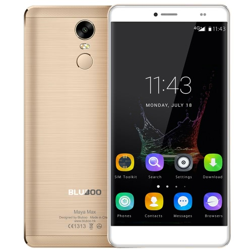 BLUBOO Maya Max 4G FDD-LTE Smartphone 6.0inch HD OGS JDI affichage 1280 * 720Pixels MTK6750 Octa-core 1.5GHz processeur 3GB RAM 32GB ROM 13.0MP + 5.0MP double Caméras Android OS 6.0 Batterie 4200mAh double carte SIM Fingerprint Identification Type-C GPS Hotspot