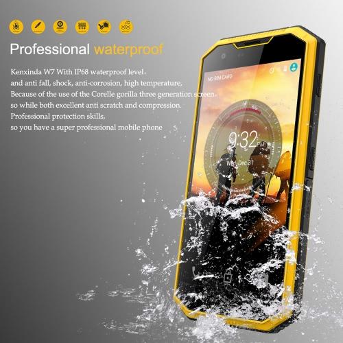 Ken Xin Da W7 Rugged Tablet Phone Outdoor IP68 Waterproof Dustproof Drop-resistant Shock-resistant 4G FDD-LTE 3G WCDMA MTK6735P Qu
