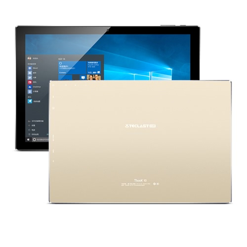 TECLAST Tbook 10 Tablet PC 10.1inch IPS HD Screen 1920*1200px Intel Cherry Trail 64Bit Processor 1.84GHz Windows 10 / Android 5.1 Dual Operation System 4GB RAM 64GB ROM Built-in 6500mAh Battery Bluetooth 4.0 WiFi Tablet Computer