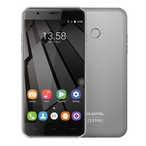Original OUKITEL U7 Plus 4G FDD-LTE Smartphone 5.5inch HD Screen 1280*720px MTK6737 Quad Core 1.3GHZ CPU 2GB RAM 16GB ROM Android 6.0 OS 13.0MP Camera 2500mAh Battery Fingerprint GPS WiFi OTA Bluetooth 4.0