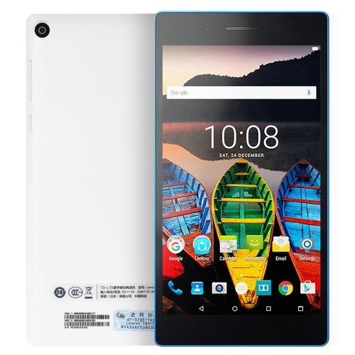 Lenovo Tab3-730M Talk Tablet Smartphone 4G-LTE MTK8735P Quad Core 64-bit 1.0GHz Quad Core 7 Inches HD 1024*600 IPS 1G+16G 2MP+5MP Camera Android 6.0 3450mAh WiFi Kid's Mode