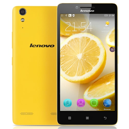 Origina Lenovo K30-W 4G TD-LTE Smartphone 5.0inch IPS HD Screen Display 1280*720pixel Snapdragon 410 MSM8916 Quad Core Mobile Phone 1GB RAM 16GB ROM Android 4.4 OS 8.0MP Camera 2300mAh Battery Dual Sim Card Cellphone