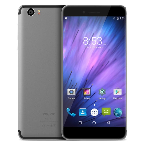 Fingerprint Vernee Mars Side-Mounted Smartphone 4G FDD-LTE 3G WCDMA MTK6755 Helio P10 64-bit Octa Núcleo 5,5 polegadas FHD tela 1920 * 1080 pixels na célula Android 6.0 4GB de RAM + 32GB ROM 5MP + 13MP Câmera Dupla vídeo 1080p OTG Tipo C dupla WiFi -band