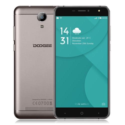 Doogee X7 Pro Smartphone 4G FDD-LTE 3G WCDMA MTK6737 64 bits Quad Core 6.0 pouces IPS HD 1280 * 720 pixels d'écran Android 6.0 2G + 16G 5MP + 8MP double Smart Cameras Gesture OTG