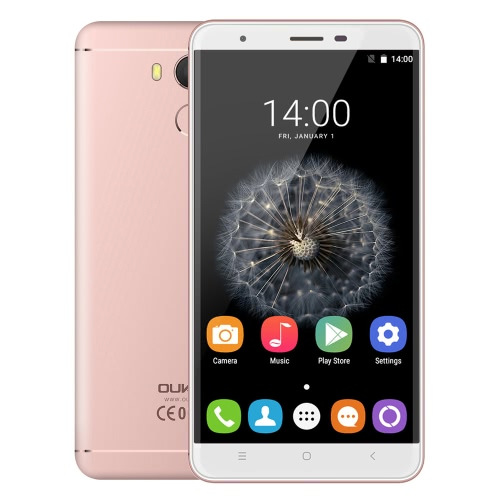 OUKITEL U15 PRO 4G FDD-LTE Smartphone 5.5inch schermo IPS HD 720 * 1280px MTK6753 Octa-Core a 1,3 GHz del processore RAM Android ROM da 32 GB 3 GB 6.0 OS 16.0MP + 5.0MP macchina fotografica doppia 3000mAh batteria SCUD 0.1s impronte digitali del cellulare ID OTG Hotknot corpo in metallo