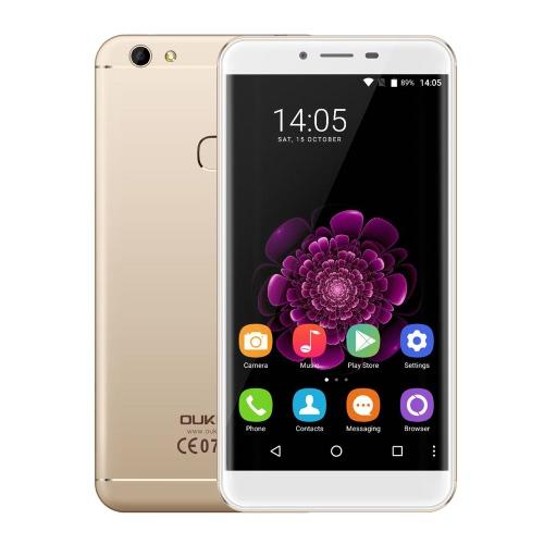 OUKITEL U15S 4G FDD-LTE Smartphone 5.5inch IPS FHD tela 1080 * 1920pixel MTK6750T Octa-Core Processor 1.5GHz CPU 4GB de RAM 32GB ROM Android 6.0 OS 16.0MP + 8.0MP Camera 2450mAh Bateria Fingerprint ID WiFi GPS Foat metal Corpo Mobile Phone