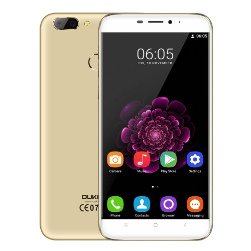 OUKITEL U20 Plus Smart Phone 4G Telefon 5.5inch ekran IPS FHD 1080 * 1920px MTK6737T Quad-Core 1.5GHz CPU Android 6.0 OS 2GB RAM 16GB ROM 13.0MP + 0.3MP Podwójnego obiektywu Powrót Aparat 5.0MP aparat z przodu 3300mAh Bateria Fingerprint ID GPS FOTA WiFi Telefon Komórkowy