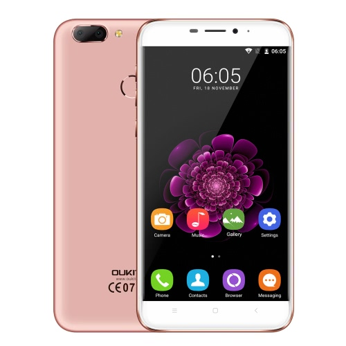OUKITEL U20 Além disso telefone esperto 4G telefone 5.5inch IPS FHD tela 1080 * 1920px MTK6737T Quad-Core 1.5GHz CPU Android 6.0 OS 2GB RAM 16GB ROM 13.0MP + 0.3MP Dual Lens câmera traseira 5.0MP câmera frontal 3300mAh Bateria Fingerprint ID GPS FOTA WiFi Cellphone