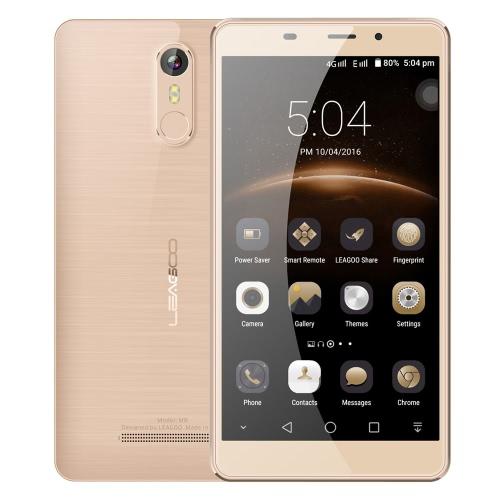 LEAGOO M8 Smartphone 3G WCDMA Phone 5.7inch HD IPS Screen 1280*720pixel MTK6580A Quad Core 1.3GHz CPU 2GB RAM 16GB ROM Freeme OS 6.0 System 13.0MP+8.0MP Cameras 3500mAh Battery Fingerprint ID GPS Mobile Phone