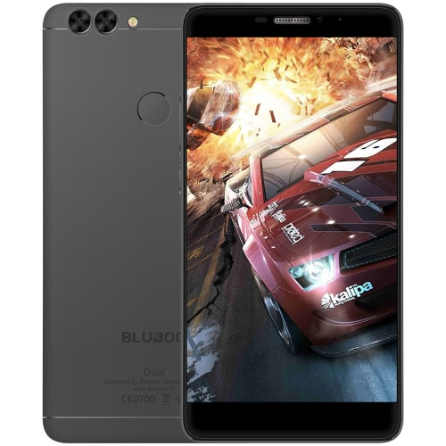 BLUBOO double empreintes digitales Smartphone 4G-LTE MTK6737T 64 bits 1.5GHz Quad Core 5,5 pouces FHD 1920 * 1080P 2G + 16G 8MP avant + 2MP 13MP double Retour Caméras Android 6.0 Ultrathin Body 3000mAh WiFi intelligent Gesture OTG