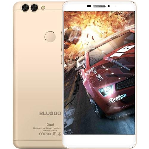 BLUBOO dupla Fingerprint Smartphone 4G-LTE MTK6737T 64-bit 1.5GHz Quad Core de 5,5 polegadas FHD 1920 * 1080P 2G + 16G 8MP Frente + 2MP 13MP traseira dupla Câmeras Android 6.0 Ultrathin corpo 3000mAh WiFi inteligente OTG Gesture