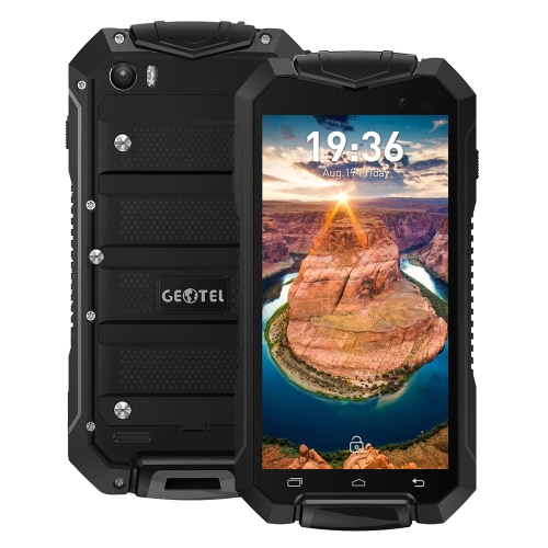 Geotel A1 Tri-proof Smartphone 3G WCDMA 4.5inch Téléphone HD écran LCD 960 * 540pixel MTK6580M Quad-core 1.3GHz CPU Android Mobile 7.0 OS 1GB RAM 8GB Cameras ROM 8.0MP + 2.0MP 3400mAh Batterie IP67 étanche Dual Sim WiFi GPS
