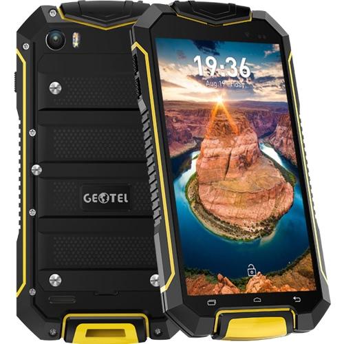 Geotel A1 Tri-prova Smartphone 3G WCDMA 4.5inch Telefone HD tela LCD 960 * 540pixel MTK6580M Quad-core 1.3GHz CPU Android Cellphone 7,0 OS 1GB RAM Câmaras 8GB ROM 8.0MP + 2.0MP 3400mAh Bateria IP67 Waterproof Dual Sim WiFi GPS