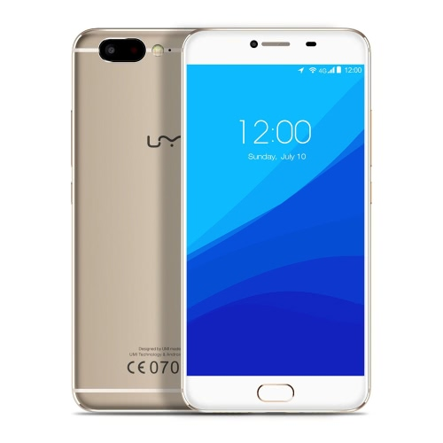 UMi Z Smartphone 4G FDD-LTE Smart Phone 5.5inch écran FHD 1920 * 1080pixels MTK Helio X27 Deca-core Cortex A72 2.6GHz CPU 4Go RAM 32GB ROM Android 6.0 OS 13.0MP + Caméras 13.0MP 3780mAh Battery Full Metal Unibody Charge rapide Touch ID GPS OTG HiFi téléphone