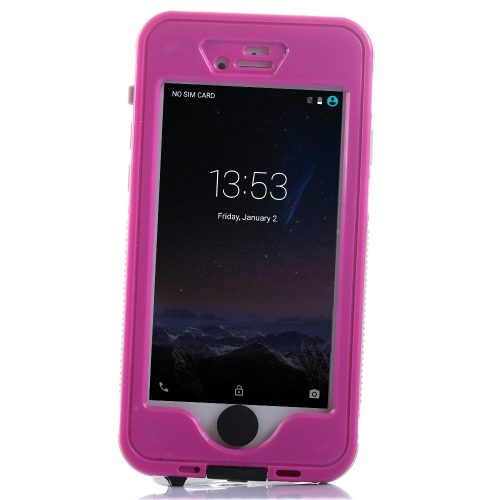 Light Weight Heavy Duty Night Bright Phone Case Shell Bumper Dustproof Waterproof IP68 Shockproof Snow Protection Touch Screen Home Button with Stand for iPhone 6 6S 4.7